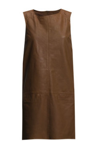 ESPRIT COLLECTION LEATHER COGNAC DRESS 1119.- BOOZT.COM