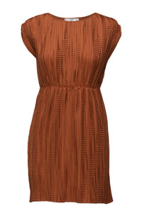 MANGO PLEATED MEDIUM BROWN DRESS 799.- BOOZT.COM